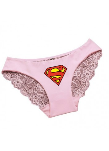 Superman Woman Pink Underwear