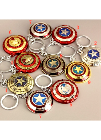 Captain America Spin Metal Keychain