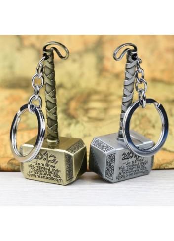 Thor Hammer Golden Keychain