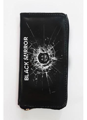 Black Mirror Logo Uzun Cüzdan