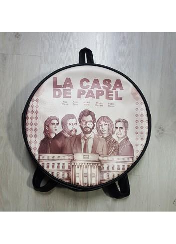 La Casa De Papel - Retro Afiş Yuvarlak Sırt Çantası