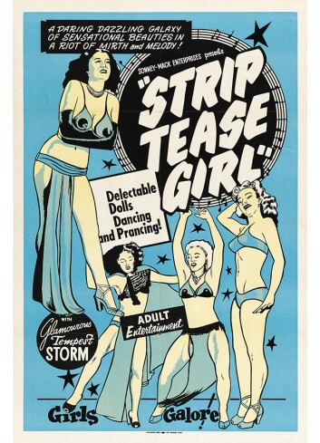 Striptease Girl 01 Poster 35X50