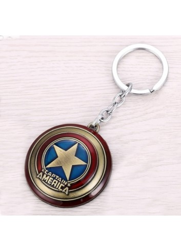 Captain America Bronze Shield Keychain
