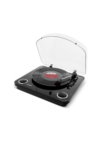 ION MAX Stereo Speaker Wood Ahşap Record Player