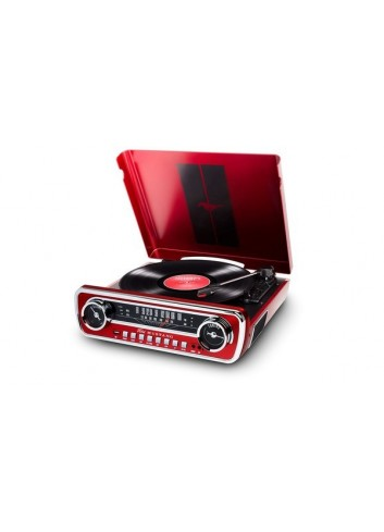 Ion Mustang Lp 4 In 1Record Player Red