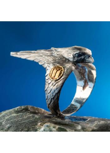 Diriliş Ertuğrul Ertugrul's Hawk Motif Ring