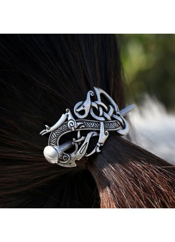 Vikings Celtics Dragon Hair Barrette