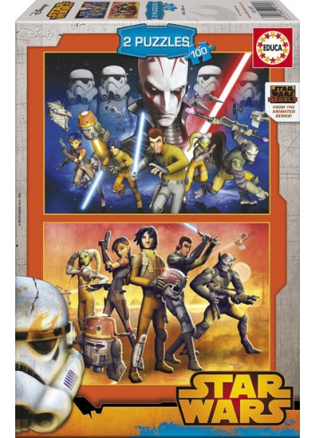 Educa Star Wars Rebels 2X100 Pieces Puzzle