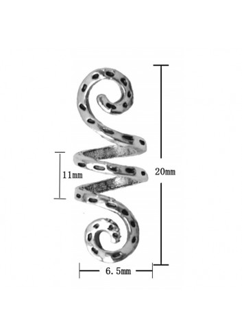 Viking Spiral Charms Hair Beads 10pcs/Pack