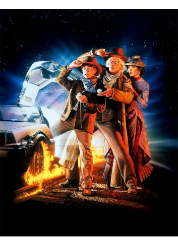 Back to the Future III Poster 35X50