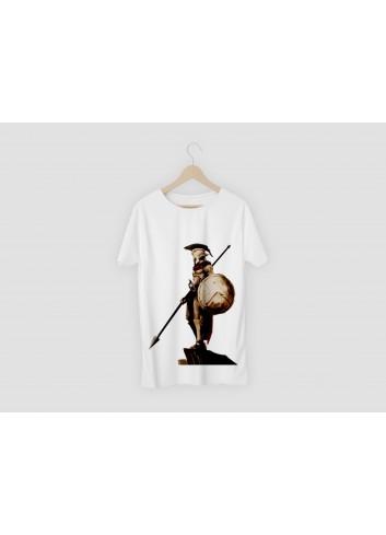 300 Spartalı Erkek Beyaz Tişört