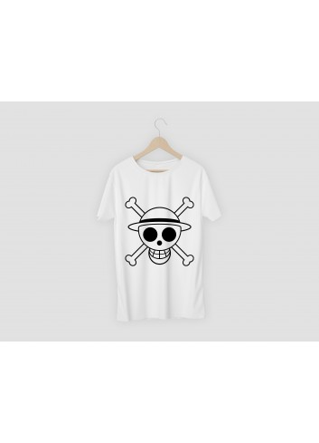 One Piece Logo Men's White T-Shirt