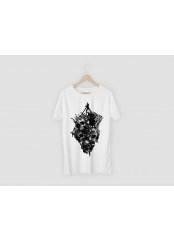 Vikings Skulls Men's White T-Shirt
