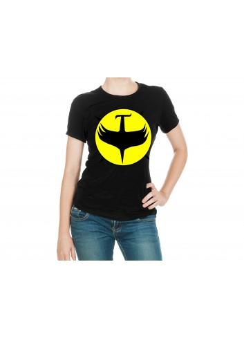 Zagor Logo 1 Kadın Siyah Tişört