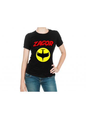 Zagor Logo 2 Kadın Siyah Tişört