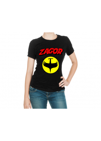 Zagor Logo 2 Women Black T-Shirt