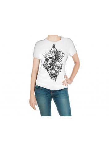 Vikings Kuru Kafa Kadın Beyaz Tişört