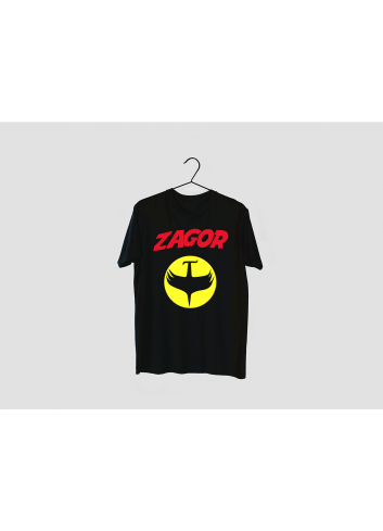 Zagor Logo 02 Men's Black T-Shirt