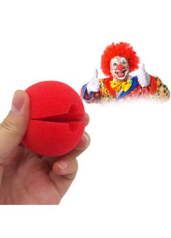 5 cm (2 inch) Red Sponge Clown Nose / Sponge Ball