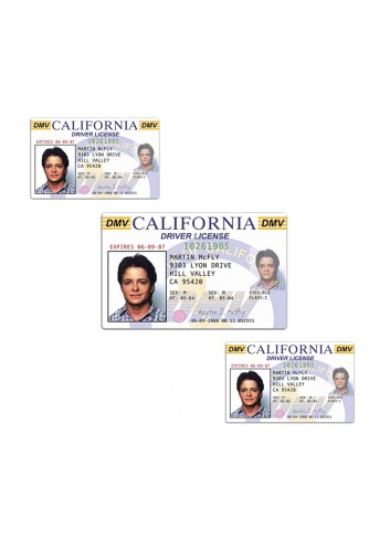 Back to the Future Marty McFly Driver's License (100 Pieces)