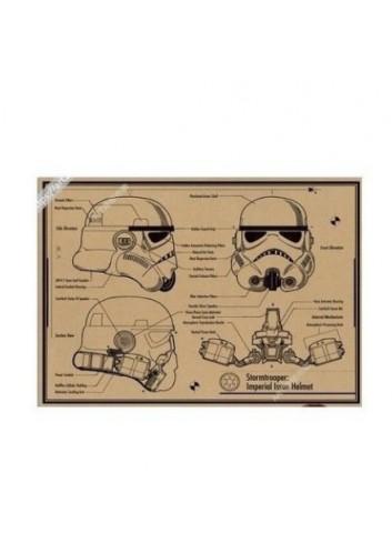 Star Wars Poster 35x50 Helmet Design Suprise Poster