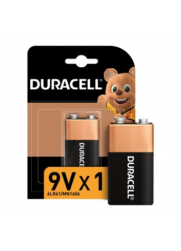 Duracell Alkaline 9 Volt Battery Single Pack