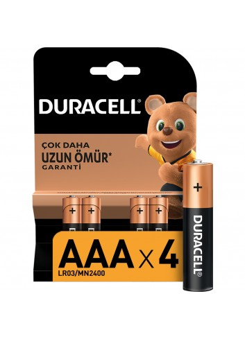 Duracell Battery Aaa Fine Pen 4 Pcs