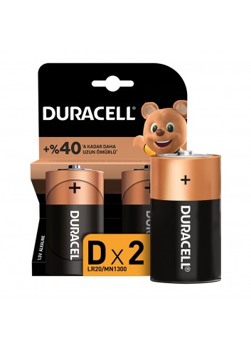 Duracell Battery D Large 2 Lr-20