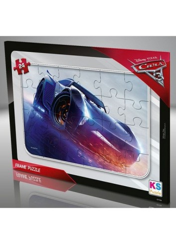 KS Games Cars 24 Pieces Frame Puzzle - Blue - CR707
