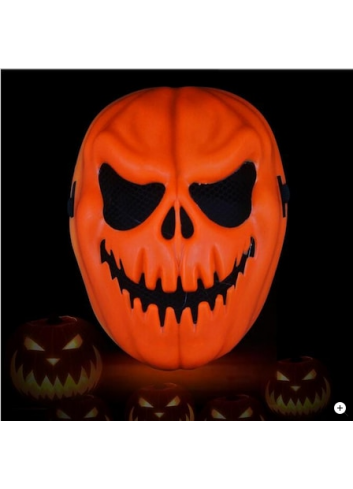 Orange Color Halloween Pumpkin Mask