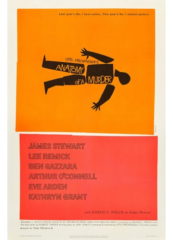 Anatomy Of A Murder Poster 50X70