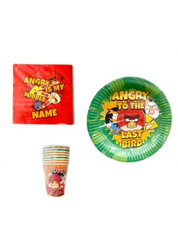 Angry Birds Parti Set (Karton Bardak, Karton Tabak, Peçete)
