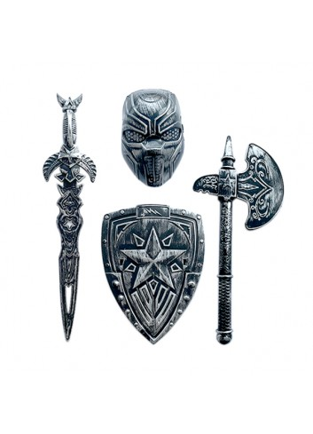 Large Shield and Helmet Set