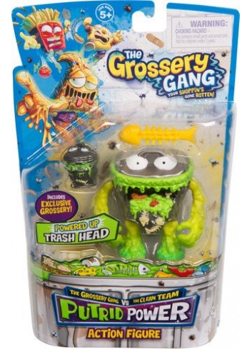 The Grossery Gang Action Figurine - Trash Head