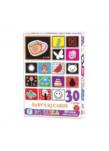 Baby's IQ Intelligence Educational Picture Word Cards 30 Pieces