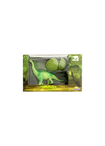 Jurassic Park Green Dinosaur and Baby Figure