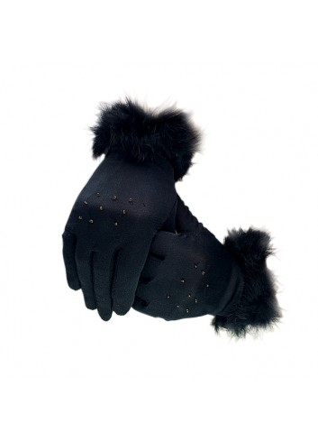 Dark Shadows Feathered Gloves