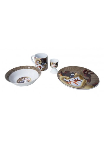 Tasmanian Devil Kids Breakfast Set Cartoonbox