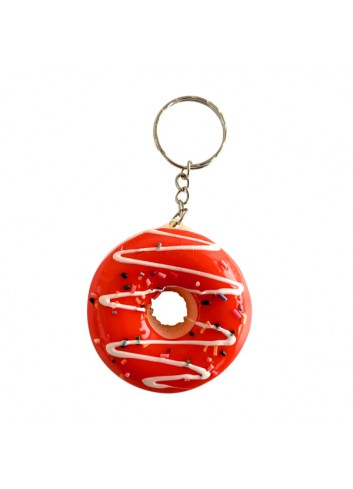 Red Donut Keychain