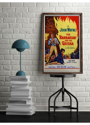 John Wayne Barbarian And Geisha Poster 50X70
