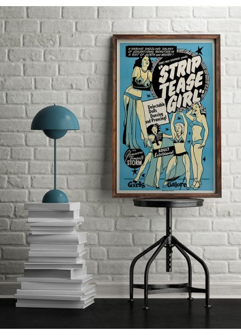 Striptease Girl Poster 50X70