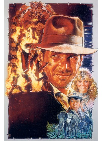 Indiana Jones And The Temple Of Doom Poster 50X70