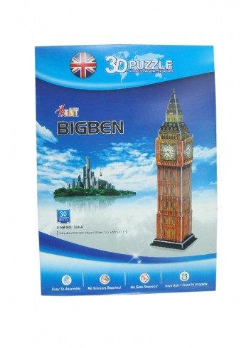 Sherlock Holmes Big Ben 3d Puzzle Yapboz