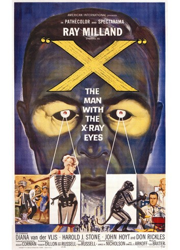 X: The Men With The X-Ray Eyes Vintage Poster 50X70